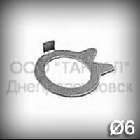 Шайба 6 оцинкованная ГОСТ 13465-77 стопорная с носком
