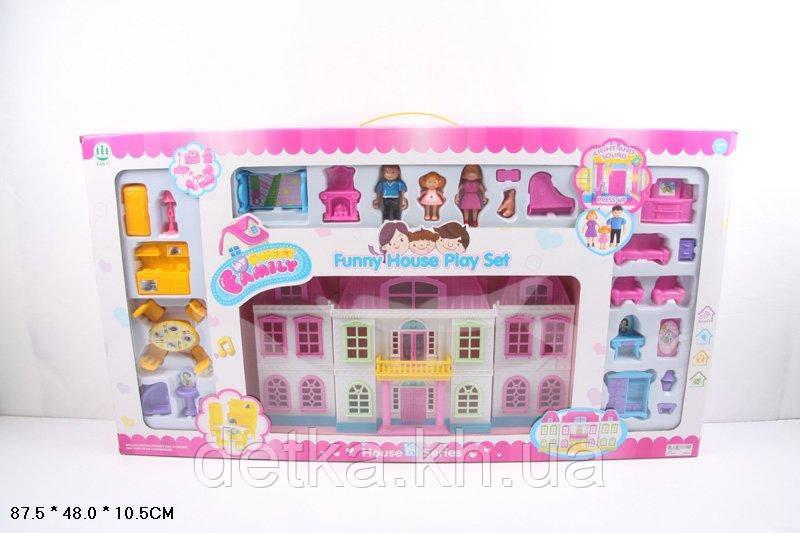 Кукольный дом 1204 с куклами и мебелью батар.муз.свет