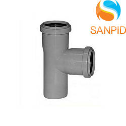 Трійник для внутрішньої каналізації Wavin 40х40/90°