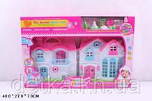 Кукольный дом 1301 с куклами,мебелью батар муз свет