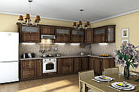 Кухня Гарант серия Платинум угловая, МДФ, пленка, патина, фото 1