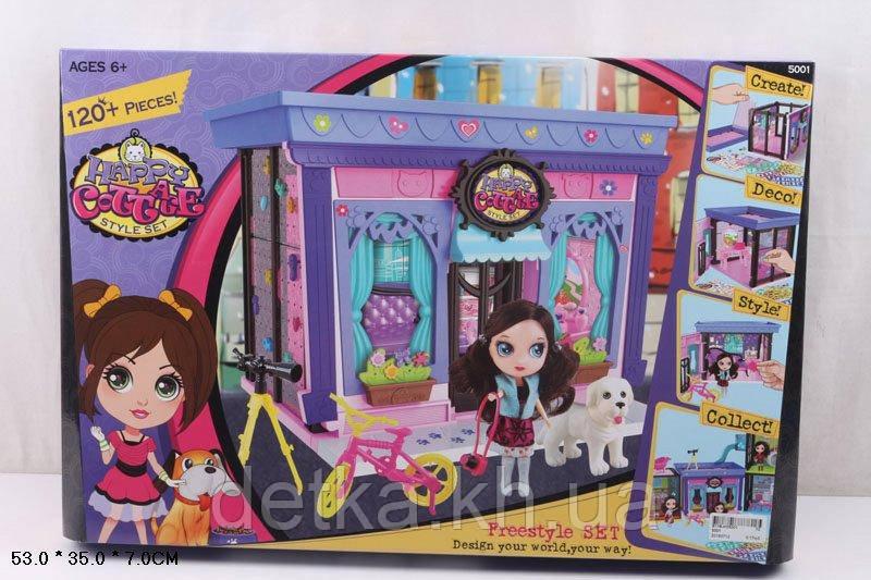 Кукольный дом 5001 с куклой 10см,мебелью