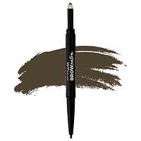 Карандаш-тени для бровей - Maybelline Brow Satin Duo Eyebrow Pencil (Оригинал) №02 Medium Brown