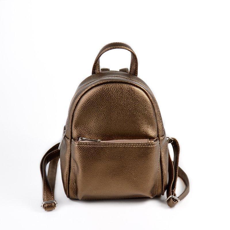 eac7ab6f6bbc Рюкзак бронзовый М124-70 маленький женский городской на плечо классический  - Интернет магазин сумок SUMKOFF