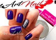 Art Nail. Маникюр в темном цвете и stamping дизайн