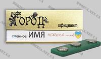 Бейдж металізованій  Львів  з вікном под ім`я