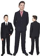 Пиджак школьный для мальчика м-846  рост 116-170черный, синий, зеленый,бордовый
