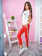 """Костюм женский стильный футболка и брюки с лампасами """"Zara"""" разные цвета 6Db548"""