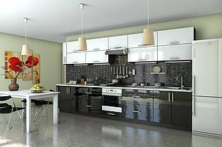 Кухня Гарант серия Гламур прямая, МДФ пленка, фото 3