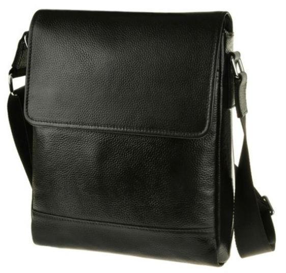 f3059fb2d526 Мужская сумка-планшетка из кожи Tiding Bag, M5831-1A, чёрная ...