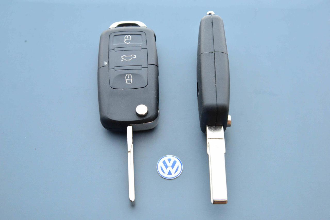 Корпус выкидного авто ключа для VOLKSWAGEN Passat, Caddy, Jetta, Golf