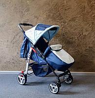 Прогулочная коляска Baby Car  Темно-синий+светло-голубой