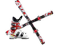 Лыжи, ботинки, крепления