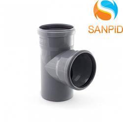 Трійник для внутрішньої каналізації Wavin 110х110/90°