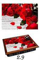 Розы-ноты, поднос-подушка, серия Весна
