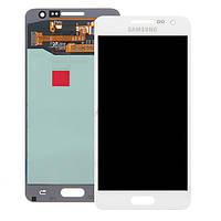 Дисплей (LCD) Samsung A300F Galaxy A3/ A300FU/ A300H (2015) с сенсором белый сервисный оригинал