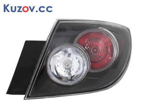 Фонарь задний Mazda 3 хетчбек 07-09 левый (Depo) внешний прозрачный, фото 2