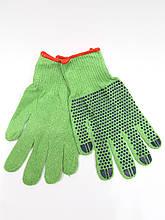 Трикотажные перчатки рабочие с ПВХ
