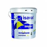 Гидроизоляционная эластичная краска-мастика водная белая ISAVAL Antigoteras Extreme 15 л