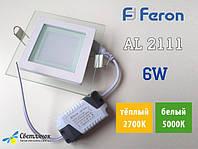 Светодиодные светильники квадраты Feron
