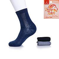 Качественные носки мужские с узорной вязкой Твiнс Текс TT-016 (12 ед. в упаковке)