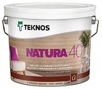 Лак для дерева мебельный акриловый TEKNOS Natura 40 полуглянцевый  0,9 л