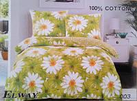 Сатиновое постельное белье евро ELWAY 003