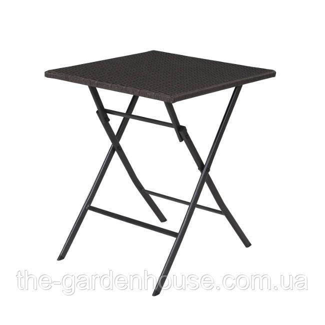 Складаний стіл з штучного ротанга Nico 60х60 см