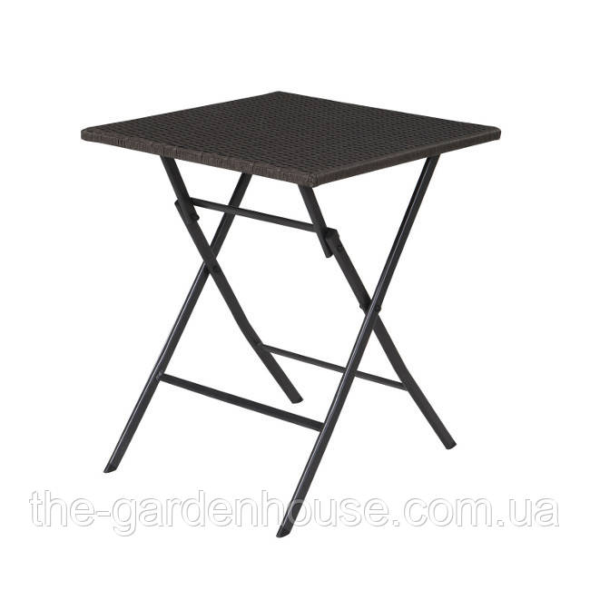 Складной стол из искусственного ротанга Nico 60х60 см темно-серый