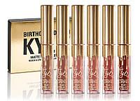 Набор жидких матовых помад Kylie Birthday Edition, 6 штук, Скидки