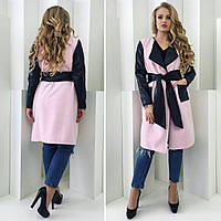 Женское стильное пальто на запах  СА108 (бат)