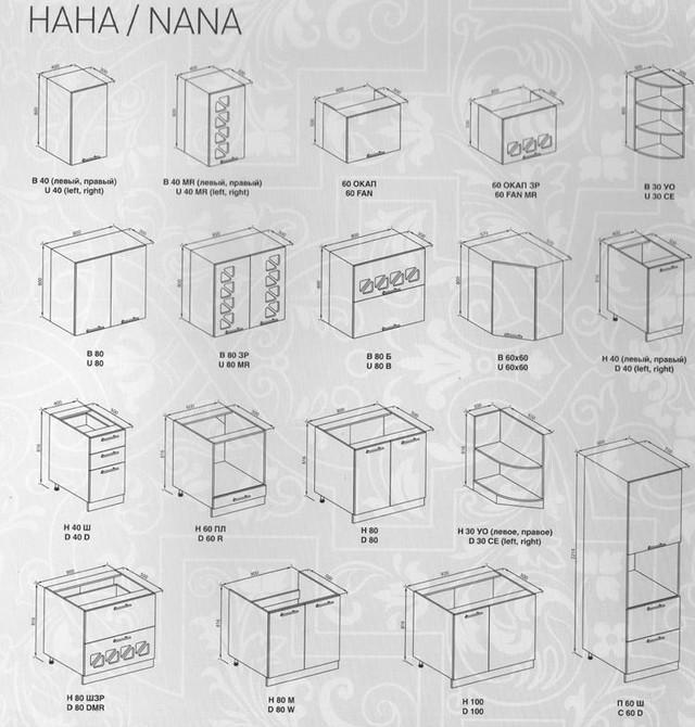 Набор тумб кухни Нана