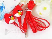 Наушники Angry birds JH-405, микрофона нет, mini jack 3.5, наушники детские