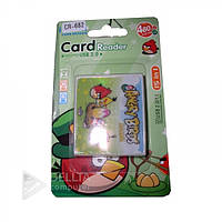 Картридер CR-682 (CR-04) Angry birds YC21- YC24, поддержка карт micro-SD/ SD/ mini-SD/ M2/ MMC/ Micro-MMC/ MS-Pro, Cardreader