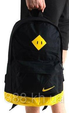Рюкзак городской NIKE XXL, Спортивный рюкзак найк, черный/желтый реплика