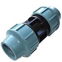 Муфта ПНД (компрессионная) соединительная 25