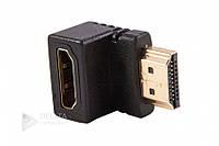 Переходник HDMI F/ HDMI M угловой, адаптер угловой HDMI