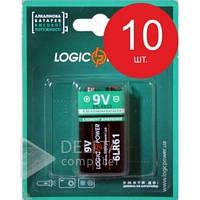 Батарейка LogicPower Alkaline 6LR61 (Крона) 9V, (Цена за 1 шт.) щелочная батарейка LogicPower Alkaline 6LR61 (Крона) 9V