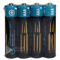 Батарейка LogicPower Super Heavy duty R03 ААА, (Цена за 4 шт.), 1.5В, пальчиковая батарейкаLogicPower Super