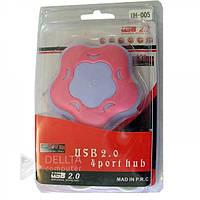 Хаб 4 портовый 2.0 UH-005 YC14-YC17, 480Mbps, Plug-and-Play, опционально, USB хаб