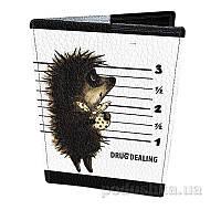 Кожаная обложка для паспорта Devays Maker Ёжик в тумане 01-01-143