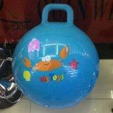 Мяч 65см гиря, 450г, 4 цвета, 4 рисунка, BT-PB-0087