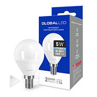 Светодиодная лампа Global E14 - 5w 4100k, 400 Lm, шар, лед лампа Global E14- 5w