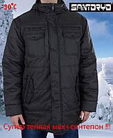 Теплая зимняя куртка Santoryo-7108,оливковая