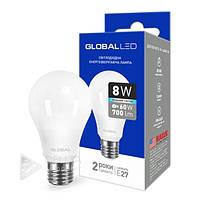 Светодиодная лампа Global E27 - 8w 4100k, 700Lm, шар, лампа led светодиодная Global E27- 8w