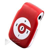 Mp3 плеер 004, пластик, без памяти, без радио, microSD, наушники, кабель USB,  плеер детский