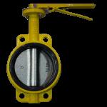 Затвор поворотный дисковый (ЗПД) для газа типа Баттерфляй RBV-16-40-G  Ду100 Ру16