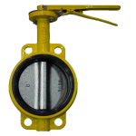 Затвор поворотный дисковый (ЗПД) для газа типа Баттерфляй RBV-16-40-G  Ду125 Ру16