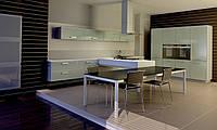 Кухня RODA МАНХАЙМ: фасады HPL-пластик 4 мм (про-во Италия) в алюминиевой рамке