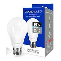 Светодиодная лампа Global E27- 10w 4100k, 900Lm, шар, Лед лампа  Global E27- 10w